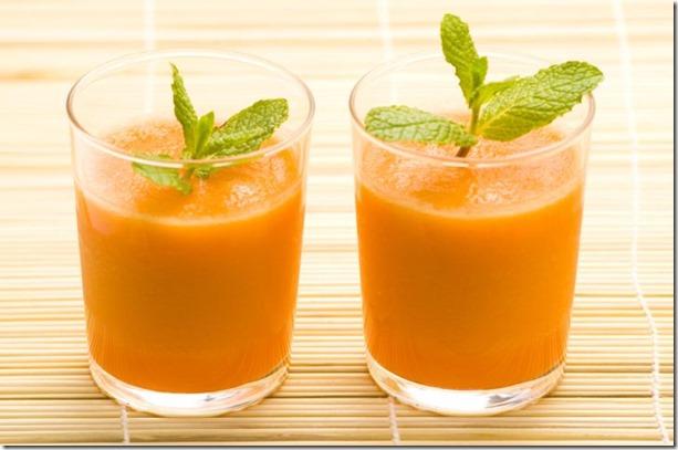 jugo de zanahoria para la piel