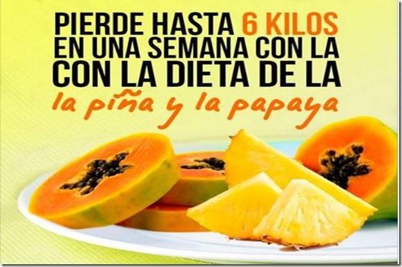 dieta pina y papaya